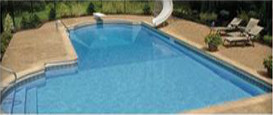 Compression molded swimming pool