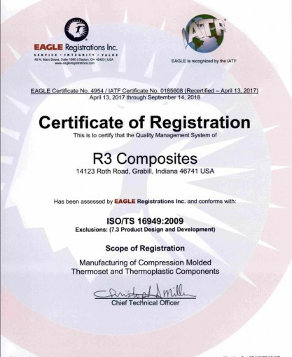 ISO/ TS certificate